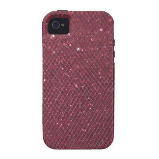 Roter Glitter Case-Mate iPhone 4 Case