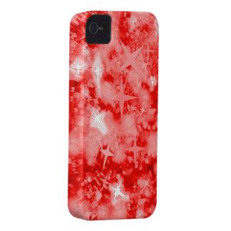 Roter Glitter und Sterne iphone 4 kaum Kasten Case-Mate iPhone 4 Hüllen