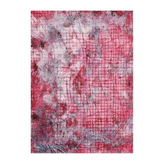 Roter grauer abstrakter Monoprint 170301 Acryl Wandkunst