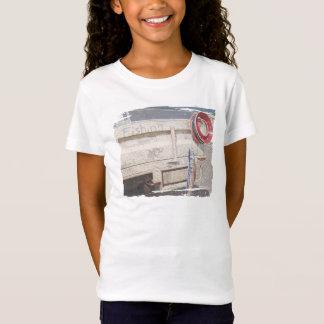 Roter grauer silberner Ute Strand der Fischenspule T-Shirt