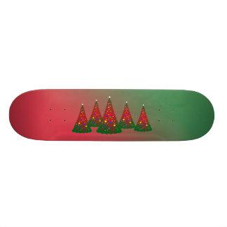 Roter grüner fröhlicher Weihnachtsbaum 18,4 Cm Mini Skateboard Deck