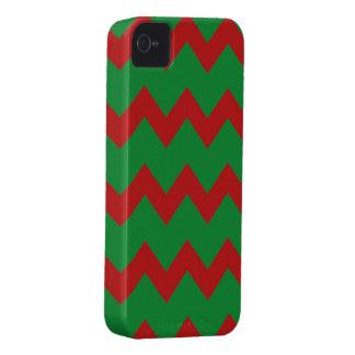 Roter grüner Sparren-Kasten Case-Mate iPhone 4 Hülle