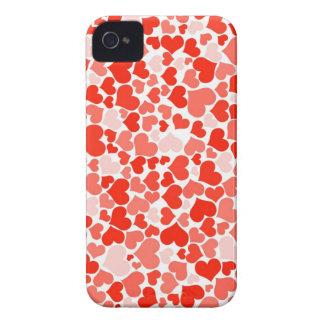 Roter Herz-Hintergrund iPhone 4 Hüllen