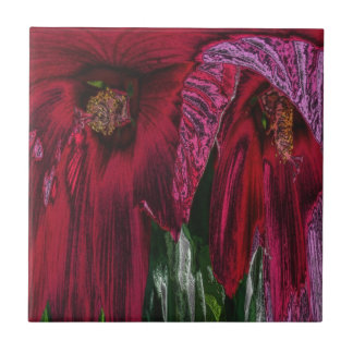 Roter Hibiskus-abstrakte Kunst-mit Blumenfliese Keramikfliese