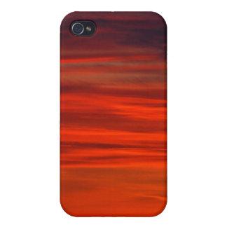Roter Himmel iPhone 4 Schutzhüllen