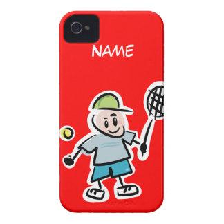 Roter iphone Kasten mit lustigem iPhone 4 Cover