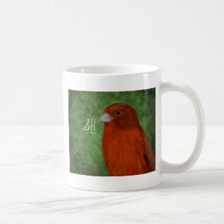 Roter Kanarienvogel Kaffeetasse