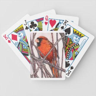 Roter Kardinal Bicycle Spielkarten