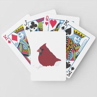 Roter Kardinals-Winter-Schnee-Vektor Poker Karten