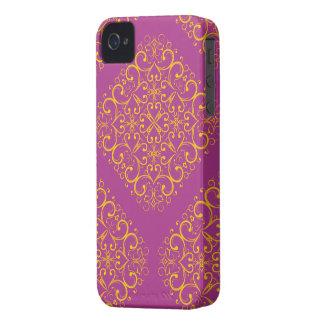 roter Kasten der Blumenverzierung Iphone4 iPhone 4 Etuis