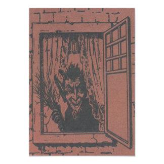 Roter Krampus Fenster-Schalter 12,7 X 17,8 Cm Einladungskarte