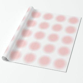 Roter Kreis-Halbtonhintergrund Geschenkpapier
