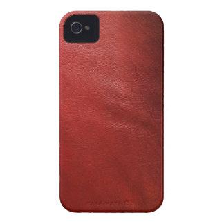Roter lederner Entwurf iPhone 4 Case-Mate Hüllen