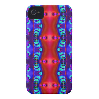 Roter lila bunter Bandentwurf iPhone 4 Cover