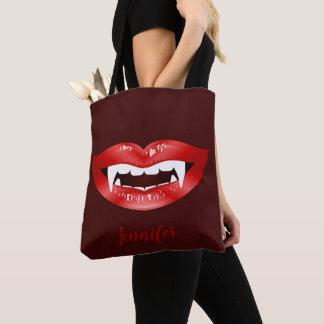 Roter Lippenvampire-Mund illustriert und