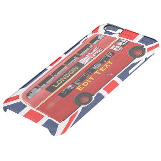 Roter London-Doppeldecker-Bus Durchsichtige iPhone 6 Plus Hülle