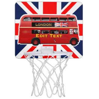 Roter London-Doppeldecker-Bus Mini Basketball Ring