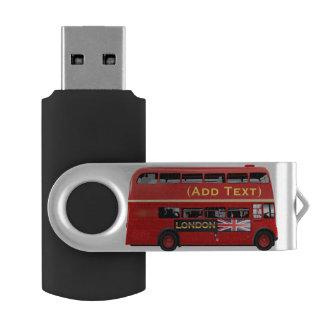 Roter London-Doppeldecker-Bus USB Stick