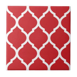 Roter Marokkaner Quatrefoil gemusterte Kleine Quadratische Fliese