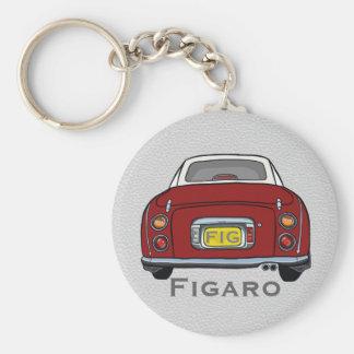 Roter Nissan Figaro-Auto-Gewohnheits-Schlüsselring Schlüsselanhänger