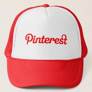 Roter Pinterest Hut Truckerkappe