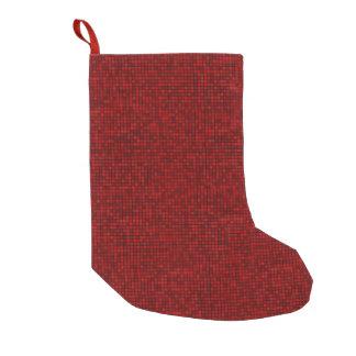 Roter Pixel-WeihnachtsStrumpf Kleiner Weihnachtsstrumpf