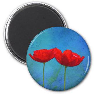 Roter Pop Runder Magnet 5,1 Cm