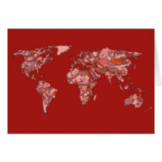 Roter sandiger Atlas Grußkarte