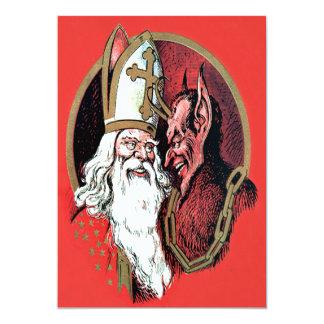 Roter Sankt Nikolaus Krampus 12,7 X 17,8 Cm Einladungskarte