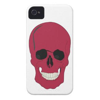 Roter Schädelentwurf Smartphones iPhone 4 Hülle