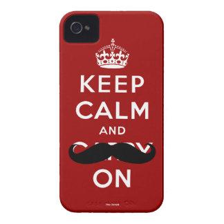 Roter Schnurrbart behalten Ruhe und machen iPhone Case-Mate iPhone 4 Hüllen