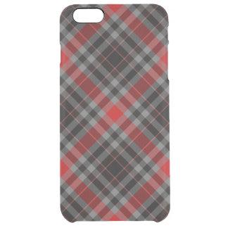 Roter schwarzer karierter iPhone 6 Durchsichtige iPhone 6 Plus Hülle