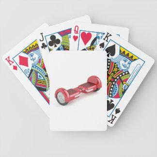 Roter Selbst-balancierender Roller Bicycle Spielkarten