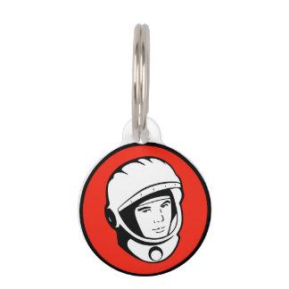 Roter sowjetischer Kosmonaut-Haustier-Umbau Tiermarke