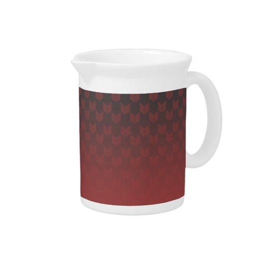 Roter Steigungs-Krug Getränke Pitcher