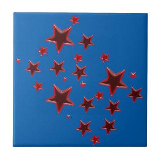 Roter Stern Kleine Quadratische Fliese