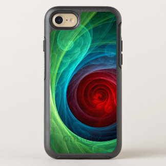 Roter Sturm-abstrakte Kunst OtterBox Symmetry iPhone 7 Hülle
