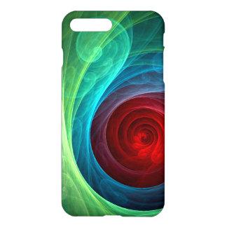 Roter Sturm-abstrakter Kunst-Lech iPhone 7 Plus Hülle