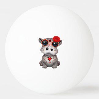 Roter Tag des toten Baby-Flusspferds Tischtennis Ball