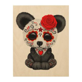 Roter Tag des toten Pandas CUB Holzdruck