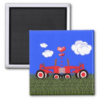 Roter Traktor-Valentinstag Magnete