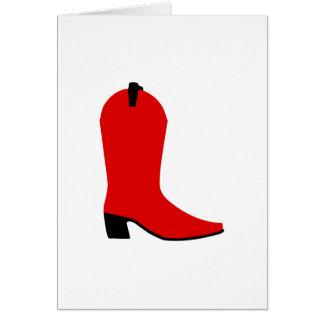 Roter und schwarzer Stiefel Karte