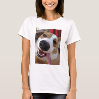Roter und weißer Pembroke-WaliserCorgi T-Shirt