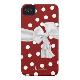 Roter und weißer Tupfen iPhone 4 Kasten iPhone 4 Hüllen
