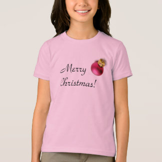 Roter Verzierungs-WeihnachtsT - Shirt
