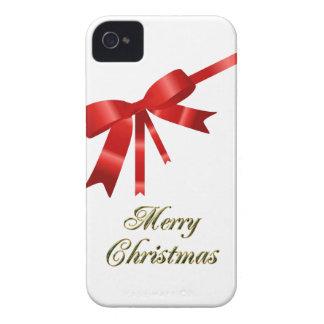 Roter Weihnachtsbogen iPhone 4 Etuis
