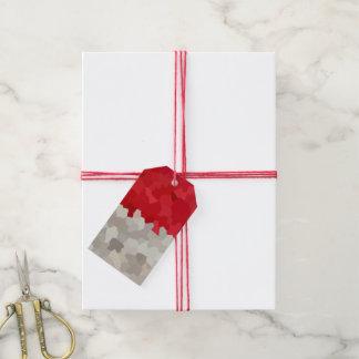 Roter Weihnachtsmannmütze-beflecktes Geschenkanhänger