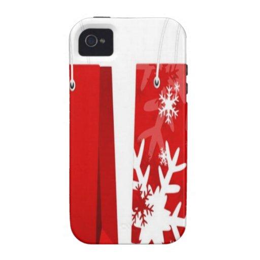 Roter Weihnachtstaschenentwurf Case-Mate iPhone 4 Hüllen