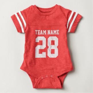 Roter weißer Baby-Fußball trägt Jersey-Spielanzug Babybody