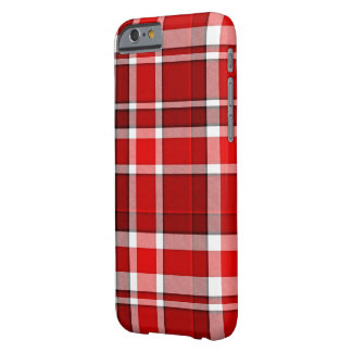 Roter weißer karierter Tartan Barely There iPhone 6 Hülle